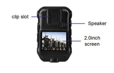 China Waterproof Police Wearing Body Cameras , Gps Tracker Camera ROSH Approved supplier