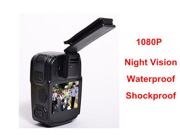 China Wearable Night Vision Body Camera , Personal Body Video Camera Built In 32G TF Card supplier