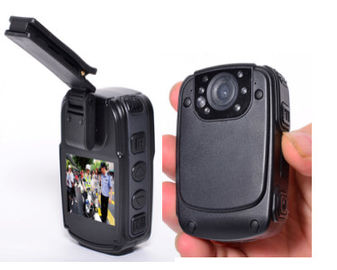 China 2'' Screen Police Wearable Camera , Night Vision Camera 130 Degree Wide Angle supplier