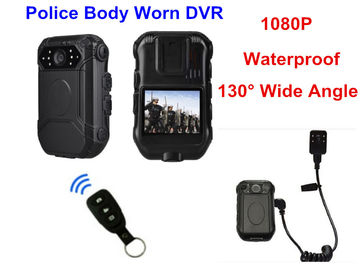 China Bluetooth 4G Body Worn Camera With Audio , Police Action Camera ABS Material supplier