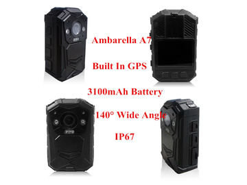 China Black Law Enforcement Body Camera , Durable Police Wearable Camera 165 G supplier