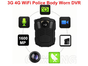 China Police Officer 4G Body Worn Camera MP4 Video Format For Evidence Recording supplier