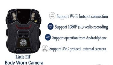China H.264 wireless Police Body Cameras Password protect USB 2.0 Port 3.3 Voltage supplier