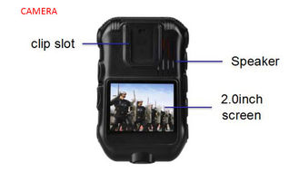 China High Resolution Waterproof Android Body Camera 5.1 System Real Time Data Upload supplier