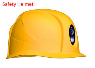 China Durable Industrial Safety Helmet ABS Comfort , Yellow Hard Hat Built In Camera supplier