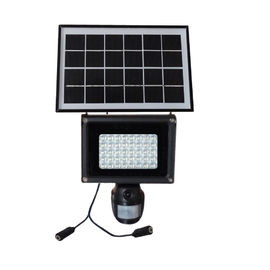 China 2000MAH Battery Wifi Security Camera Solar Powered CCTV PIR Lamp With LED Floodlight supplier