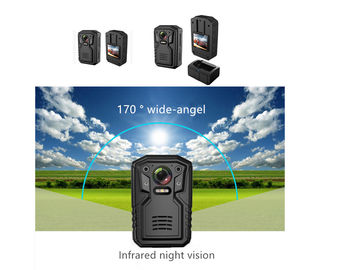 China Live Streaming Wifi Body Camera /  2 Way Audio 160 ° Wide Angle Police Worn Cameras supplier