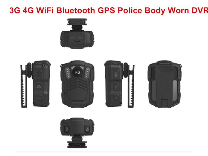 Police Officer 4G Body Worn Camera MP4 Video Format For Evidence Recording