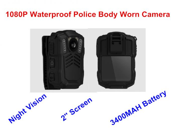 ABS Material Wearable Waterproof Body Camera Drop Resistance Feature 3.0 M