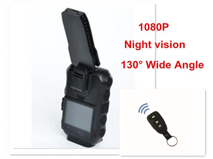 GPS / GPRS Bluetooth WIFI Body Camera 130° Wide Angle Lens FCC Approved
