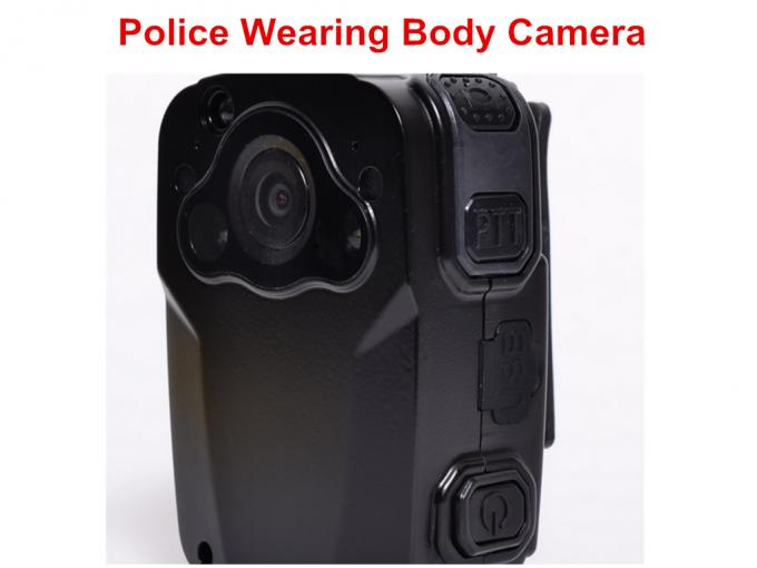 Wearable Night Vision Body Camera , Personal Body Video Camera Built In 32G TF Card
