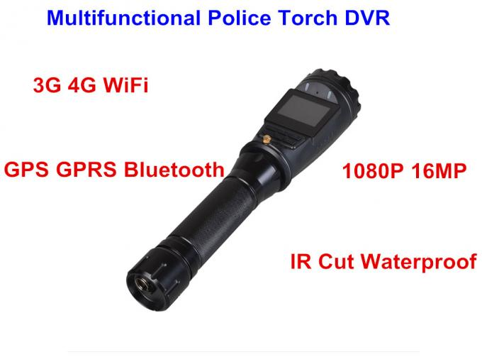 Android 5.1 Police Security Flashlight 8000 MAH Battery 1.5 Inch TFT LCD