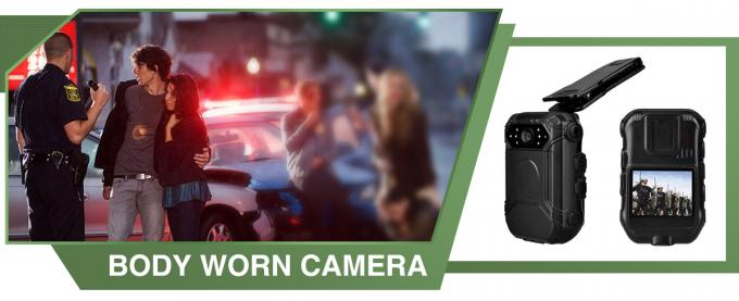 Mini Button HD Body Camera IP65 , External Police Worn Cameras With Face Detect