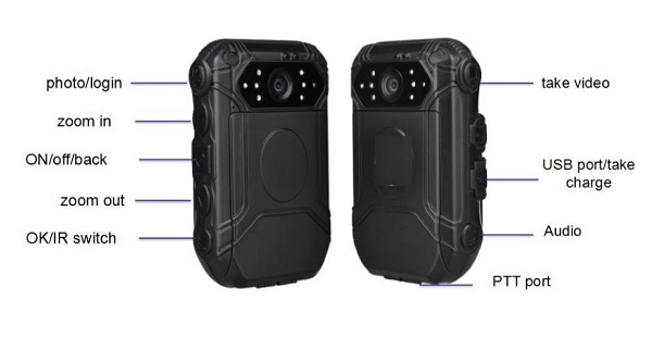 1080P 130 Degree Wide Angle GPS GPRS Police Body Worn Camera