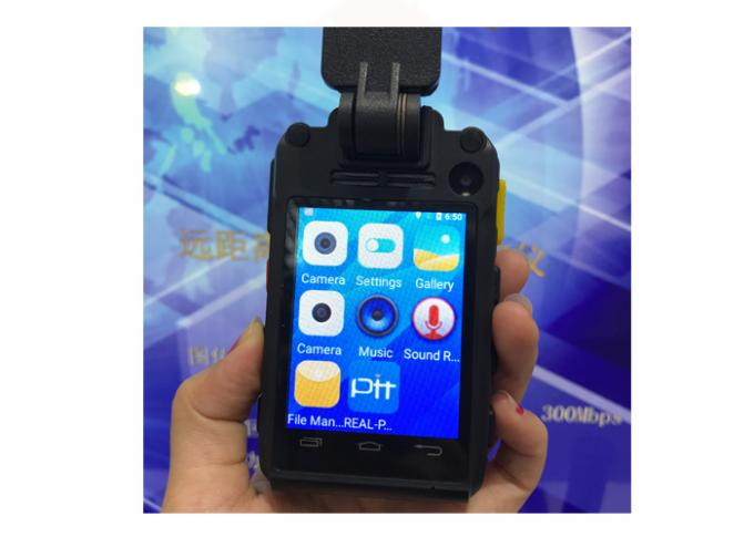 IP67 4G Police Body Worn Video Camera With Face Recognition GPS Live