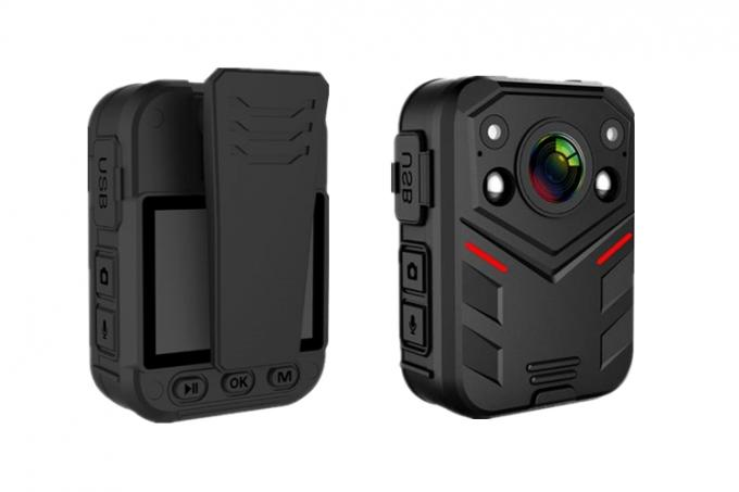 Full HD 1080P Wearable Body Camera Multi Functional IR Night Vision 2.0'' Touch Screen