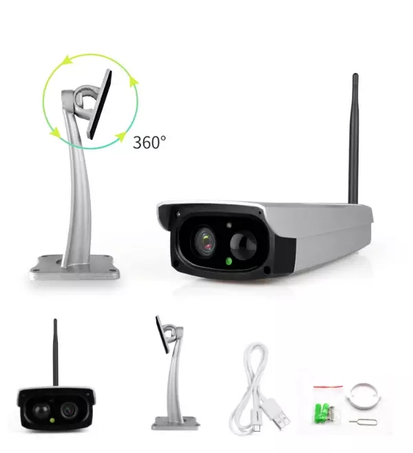 1080P Wifi Security Camera Solar Power Battery Real Time Remote Video Voice Intercom CCTV