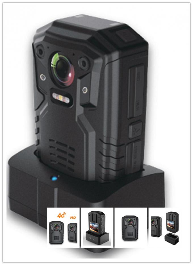 Live Streaming Wifi Body Camera /  2 Way Audio 160 ° Wide Angle Police Worn Cameras