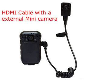 External Mini Police Video Camera 2 Inch LCD TFT 960*240 5 Mega Pixel