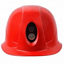 Construction Safety Waterproof Helmet Camera wifi 4G 3G IP67 with flashlight