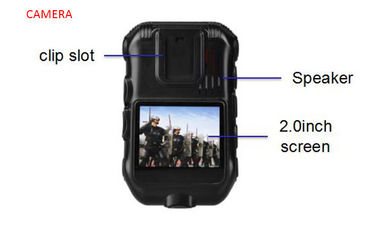 High Resolution Waterproof Android Body Camera 5.1 System Real Time Data Upload