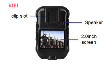 Single / Dual Recording Police Worn Cameras 5.0 MP CMOS Sensor 1080 P