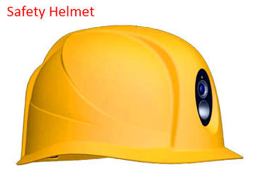 Durable Industrial Safety Helmet ABS Comfort , Yellow Hard Hat Built In Camera