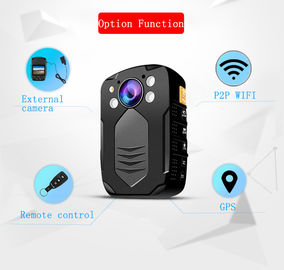IP65 Body Worn Camera With Video Output HDMI And AV Jack / Hidden LED White Light Police Camera