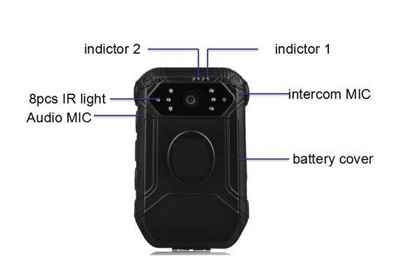 1080 P Police Camera Recorder GPS Supported , Body Worn Camera IR Function