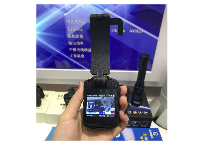 Portable WIFI Police Worn Cameras Waterproof IP66 With 2 Inch Screen